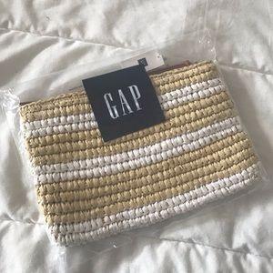 GAP Straw Striped Pouch